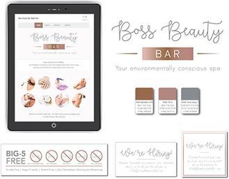 Bass Beauty Bar Whitby Website Design image