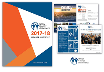 Whitby Chamber of Commerce Graphic Design image