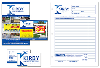 Kirby Contracting Graphic Design image