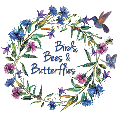 Birds, Bees and Butterflies Company Logo