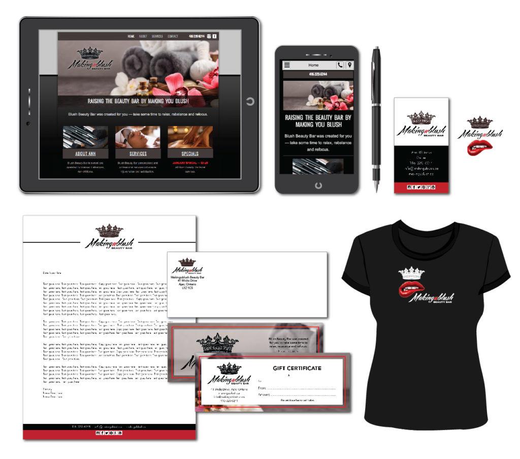 Makingublush Website Design image