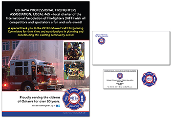 Oshawa Fire Local 465 Graphic Design image