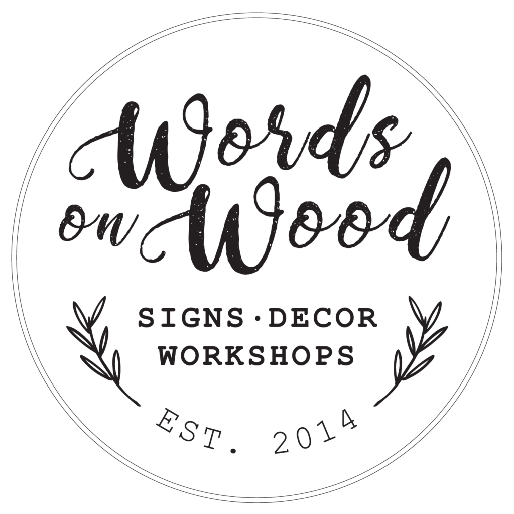 Logo design for Words on Wood