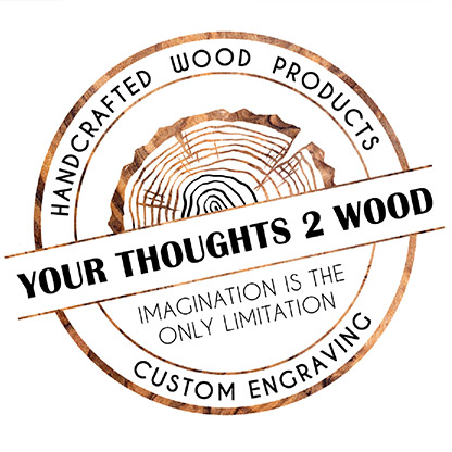 Your Thoughts 2 Wood Logo