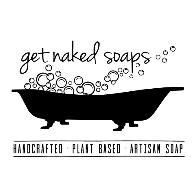 Michelle Gamelin Get Naked Soaps Logo Design